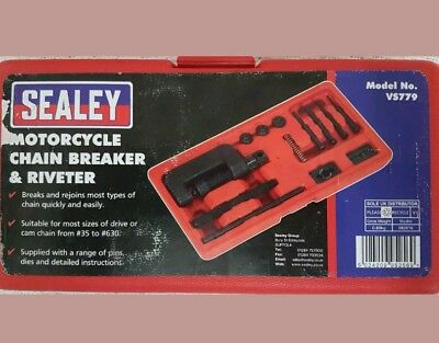Sealey Chain Breaker And Riveter Suit Chain From 35 To 630 - Motorcycle/ Bike