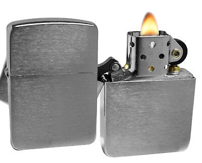 Zippo 1941 Brushed Chrome Lighter + LPCB Brown Leather Pouch Clip
