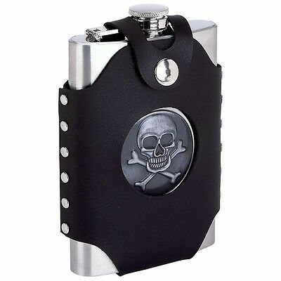 Home & Garden Responsible Punisher Skull Black 6oz Glitter Painted Hip Flask Liquor Fen-0051