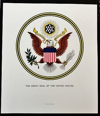 Great Seal Of The United States Print U.s. Bureau Of Engraving And Printing Bep