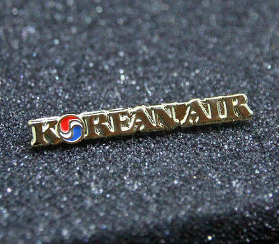 Pin KOREAN AIR LINES south korea golden metal Pin for Crew, Pilots, Ground Staff