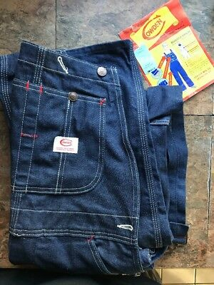 Vintage Overalls By Cowden Denim 100% Cotton From 1950 - 1960 Kmart americana