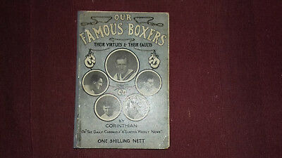 Our Famous Boxers-Corinthian 1916 Boxing Book Jerry Delaney Digger Stanley