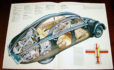 Tatra Streamliners - technical cutaway drawing