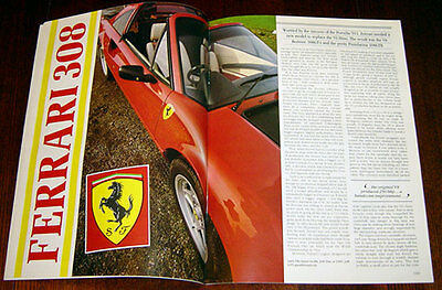 Ferrari 308 - technical cutaway drawing