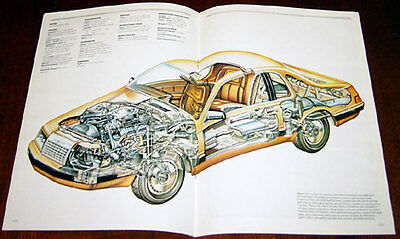 Ford Thunderbird - technical cutaway drawing