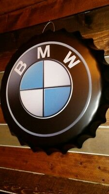 Bmw embossed metal sign .