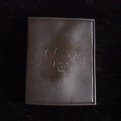 Large brown leatherette rpg manual / book notepad cover, cowboy skull embossing