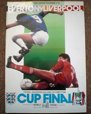 EVERTON v LIVERPOOL 1986 FA CUP FINAL FOOTBALL PROGRAMME Wembley Merseyside FC