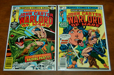 John Carter, Warlord of Mars (1977) #4 & #5 Marvel Comics Dejah Thoris
