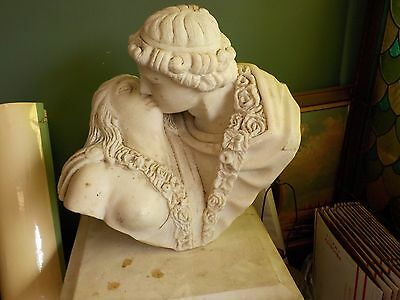 Solid Hand Carved Marble Statue of Romeo & Juliet