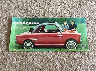 1960s Fiat  powered Bianchina micro car original dealership showroom sales hando