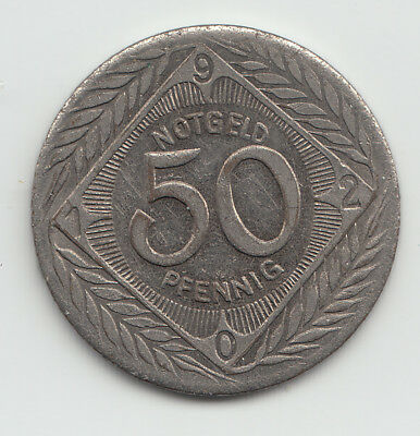 WWI Notgeld coin token Germany Ohligs iron 50 pfennig 1920 - L392.6