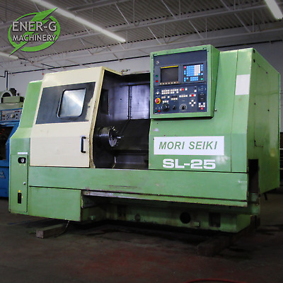 "Mori Seiki SL-25B5 CNC Lathe with Turbo 52"" Chip Conveyor (Fanuc Control)"