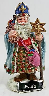 "Santa's of the World ""Polish"" Galleria Lucchese Roman Christmas Figurine Poland"