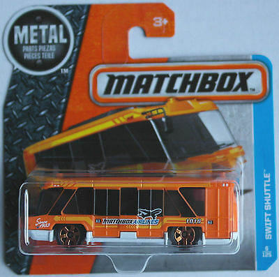 Matchbox - Swift Shuttle Bus orange/weiß Vorfeldbus Neu/OVP