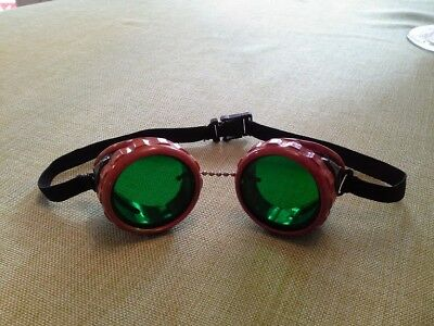 OLD VTG SAFETY/WELDING BAKELITE GOGGLES/GLASSES AND CASE Motorcycle/Steampunk