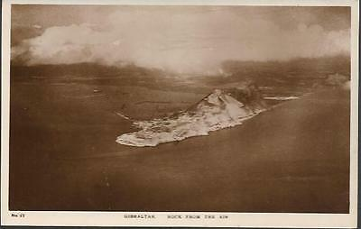 Gibraltar - Rock from air - RP postcard by Imperial Newsagency c.1930s
