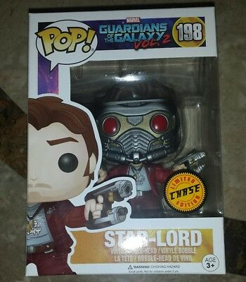 Guardians of The Galaxy Marvel Funko Pop Star Lord CHASE