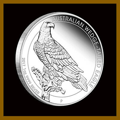 Australia 1 Dollar 1oz Silver Proof Coin, 2017 Wedge Tailed Eagle