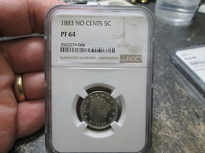 1883 No Cents Liberty V Nickel In Ngc Pf 64 Proof Condition