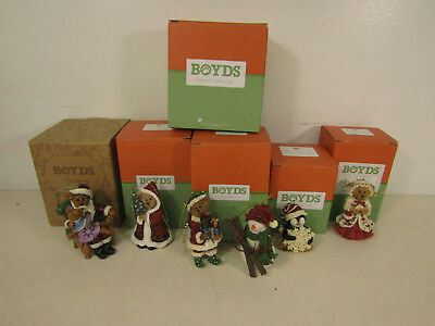 Lot of 6 Boyd's Figural Collection Holly Abigail Juneau Snowbert Etc.