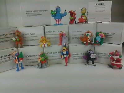Sesame Street Christmas Ornaments lot of 13 Jim Henson(12) 1993, (1) 1994