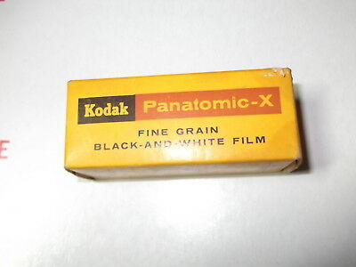Vtg Kodak Panatomic-X FX 120 NOS Film Expire May 1965 New Sealed B&W Fine Grain