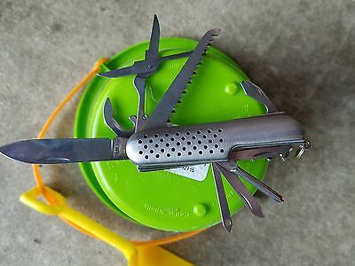 Swiss army knife stainless steel.
