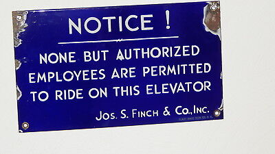 Early Rare Colbolt Blue And White Porcelain Sign Jos. S. Finch Distillery Sign