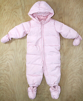 a15261bd0c27 GIRL S BABY GAP EcoPuffer Down Filled Snowsuit- Pink Dust Size 12-18 ...
