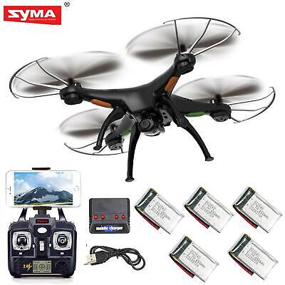 5 Batteries Syma X5SW-V3 RC Quadcopter Drone WIFI FPV 2.4Ghz 6Axis w HD Camera