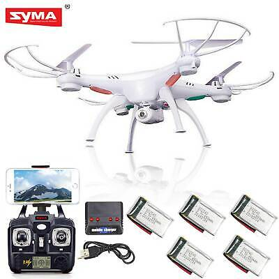 5 Batteries Syma X5SW-V3 RC Quadcopter Drone WIFI FPV HD Camera 2.4Ghz 6Axis RTF
