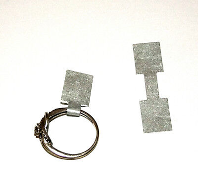 500 Tear Proof Jewelry Tags Square Silver In Color