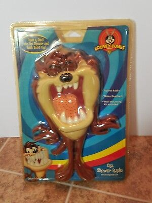 Vintage Looney Tunes Taz Tasmanian Devil Wet Tunes Shower AM/FM Radio SEALED