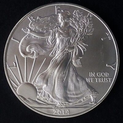 "2014 United States 1 oz Silver (.999) $1 ""American Silver Eagle"" Bullion Coin"