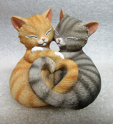 """""""A Purr-fect Fit"""" from Furr-ever My Heart Hamilton Collection Resin Figurine COA"""