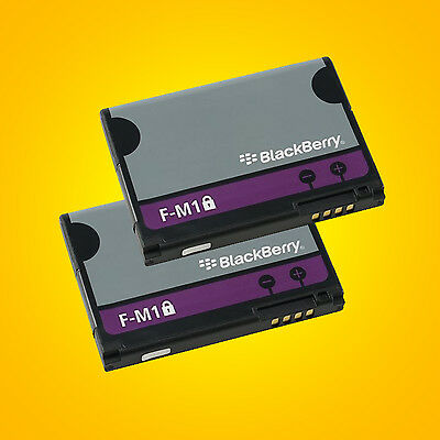 2 BlackBerry F-M1 Batteries For Pearl 3G 9100 9105 STYLE 9670 NEW