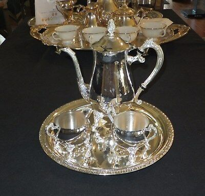 Queen Victoria 4pc silver-plated coffee / tea set    [547]