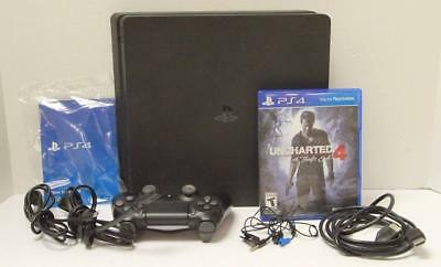 Sony PlayStation PS4 Slim Uncharted 4 500GB CUH-2015A Video Game Console Bundle