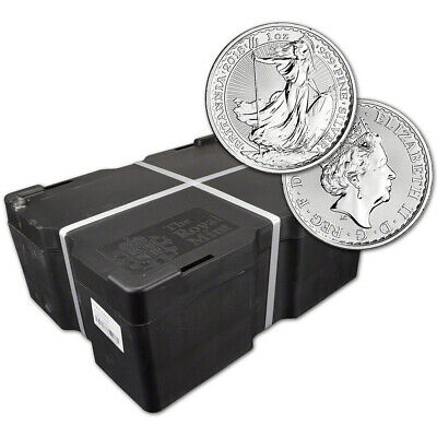 2018 Great Britain Silver Britannia £2 - 1 oz - BU - Sealed 500 Coin Monster Box