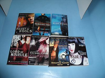 Children's Ya Lot Of 7 Morganville Vampires Rachel Caine*kiss Of Death*fade Out
