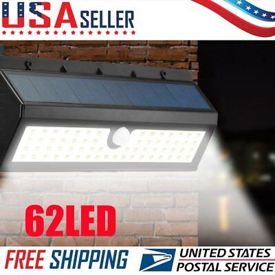 20/62 LED Solar Power Motion Sensor Wall Light Outdoor Garden Waterproof Lamp