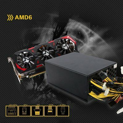 1300W Gaming Miner Power Supply For 6 GPU Ethereum Coin Mining 90 Plus Gold CF