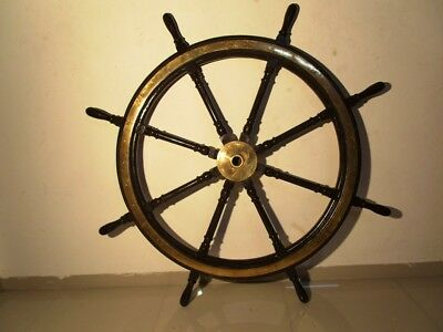 EXTRA LARGE - Vintage Style ship's STEERING - HELM - 5 Feet - Wooden (1267)