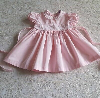 Vintage Baby Girls Toddler Pink 1950s Dress Childrens Clothes