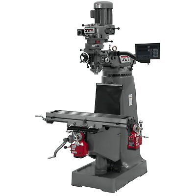 Jet 691199 JTM-2 Mill, 3-Axis Newall DP700 DRO (Quill), X and Y-Axis Powerfeed