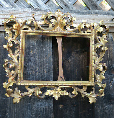 Giltwood frame for plaque KPM painting Venetian Florentine Rococo Antique Italy
