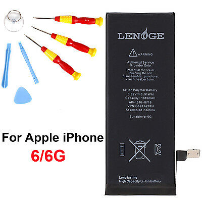"""Longlasting 1810mAh Battery Replacement + Tools For iPhone 6 4.7"""" free shipping"""