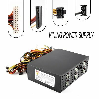 3000W Power Supply For 12 GPU Eth Rig Ethereum Coin Mining Miner Dedicated 2017
